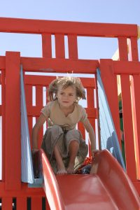child using the attachment system